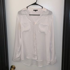 Express White Portofino Shirt In Size Medium